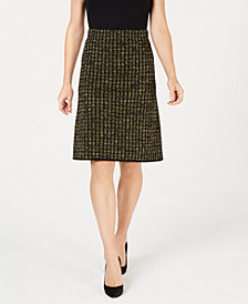 Kasper Metallic Pencil Skirt