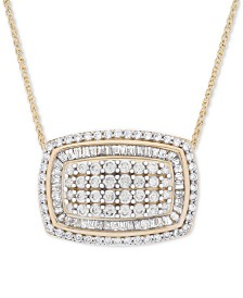 "Wrapped in Love™ Diamond Cluster 18"" Pendant Necklace (2 ct. t.w.) in 14k Gold"