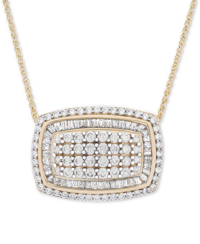 """Wrapped in Love - Diamond Cluster 18"""" Pendant Necklace (2 ct. t.w.) in 14k Gold"""
