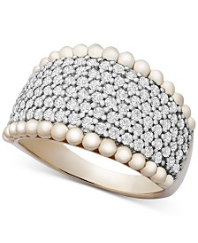 Wrapped in Love™ Diamond Pavé Beaded Statement Ring (1 ct. t.w.) in 14k Gold, Created for Macy's