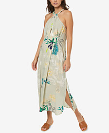 O'Neill Juniors' Floral-Print Midi Dress