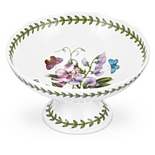 Botanic Garden Scalloped Edge Footed Bowl