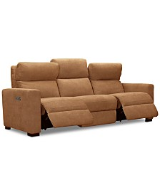 "Clynton 88"" Fabric Dual Power Sofa with USB Power Outlet"