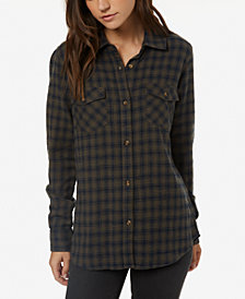 O'Neill Juniors' Cotton Plaid Shirt