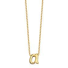 "Unwritten Initial 18"" Pendant Necklace in Gold-Tone Sterling Silver"