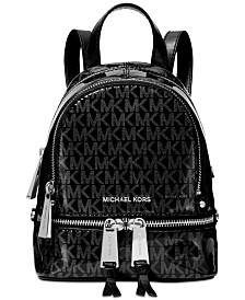 MICHAEL Michael Kors Signature Glossy Rhea Zip Convertible Backpack, Created for Macy's