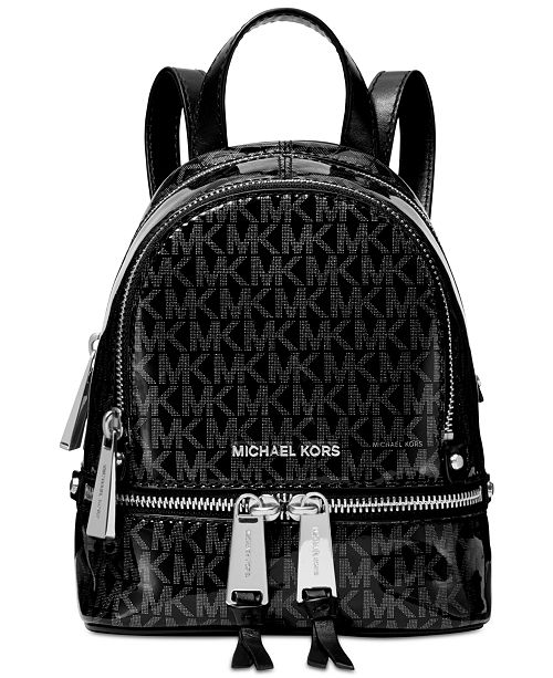 17bed6fc2845 ... Michael Kors Signature Glossy Rhea Zip Convertible Backpack