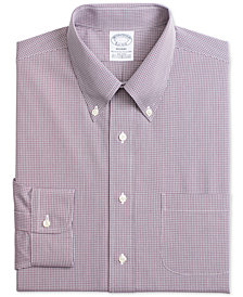 Brooks Brothers Men's Regent Fitted Non-Iron Small Check Dress Shirt