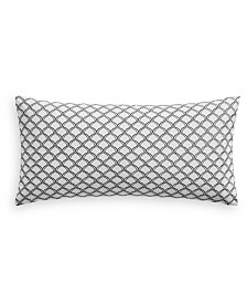 "Charter Club Damask Designs Embroidered Trellis 12"" x 24"" Decorative Pillow, Created for Macy's"