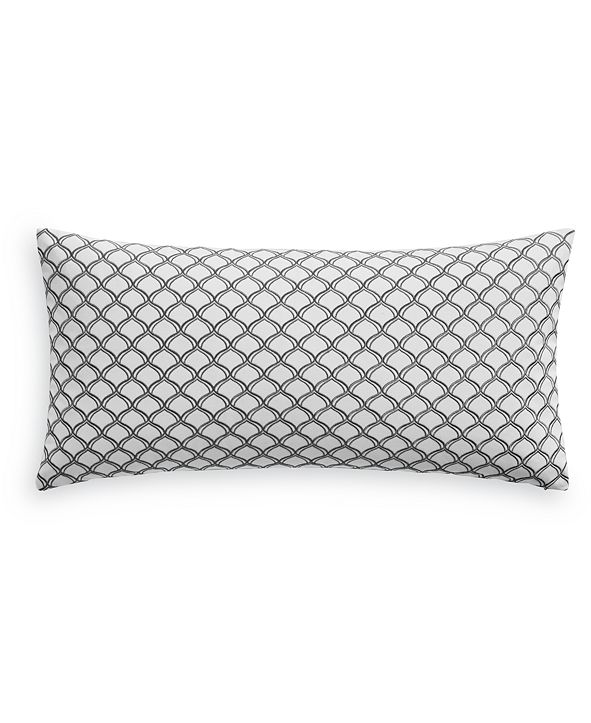"""Charter Club Embroidered Trellis 12"""" x 24"""" Decorative Pillow, Created for Macy's"""