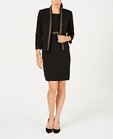 Kasper Embellished Jacket & Sheath Dress