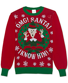 OMG! Santa! Men's Holiday Sweater