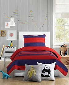 Urban Playground Lavelle Red Twin Quilt Set - 2 Piece