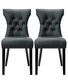Modway Silhouette Dining Chairs Set of 2
