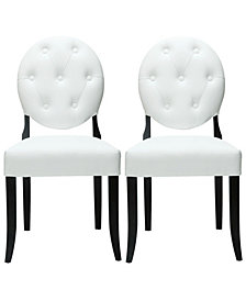 Modway Button Dining Chairs Set of 2