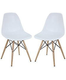 Modway Pyramid Dining Side Chairs Set of 2