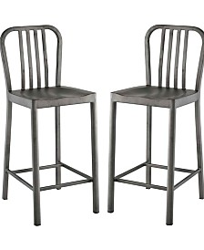 Modway Clink Counter Stool Set of 2