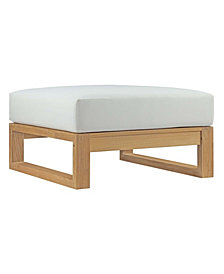 Upland Outdoor Patio Teak Ottoman