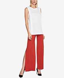 BCBGMAXAZRIA Pleated Tunic Top