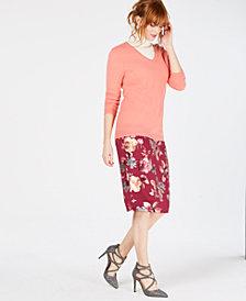 Macy's Pure Cashmere V-Neck Sweater