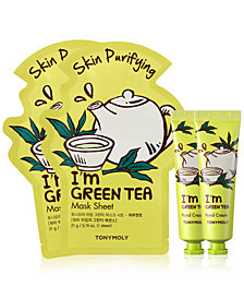 TONYMOLY 4-Pc. I'm Green Tea Sheet Mask & Hand Cream Set
