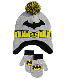 DC Comics Toddler Boys 2-Pc. Batman Hat & Mittens Set