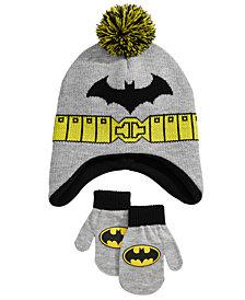 DC Comics Toddler Boys 2-Pc. Batman Hat & Mittens Set