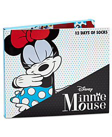 Minnie Mouse Little Girls 12-Pk. Socks Boxed Set
