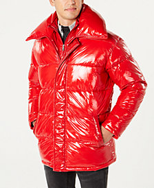 I.N.C. Men's Glossy Oversized Puffer Coat, Created for Macy's
