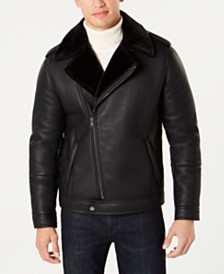 I.N.C. Men's Cooper Faux Shearling Lined Jacket, Created for Macy's