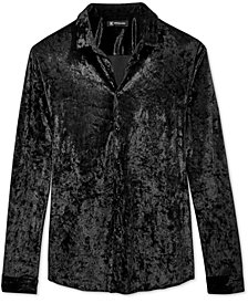 I.N.C. Men's Crushed Velvet Shirt, Created for Macy's