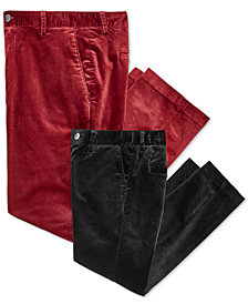 I.N.C. Mens Velvet Slim-Fit Pants, Created for Macy's