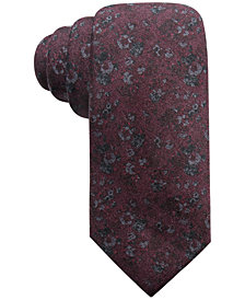 Ryan Seacrest Distinction™ Men's Mondello Printed Floral Slim Silk Tie, Created for Macy's