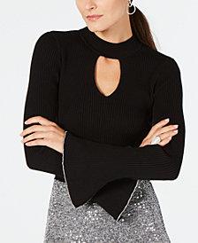 I.N.C. Choker-Neck Bell-Sleeve Top, Created for Macy's