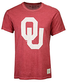 Retro Brand Men's Oklahoma Sooners Oil Wash Logo T-Shirt