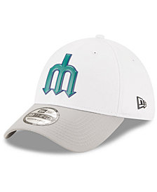New Era Seattle Mariners White Batting Practice 39THIRTY Cap
