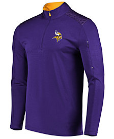VF Licensed Sports Group Men's Minnesota Vikings Ultra Streak Half-Zip Pullover