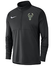 Nike Men's Milwaukee Bucks Dry Long Sleeve Half-Zip Element Pullover