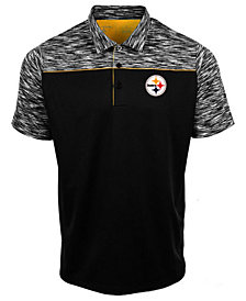Authentic NFL Apparel Men's Pittsburgh Steelers Final Play Polo