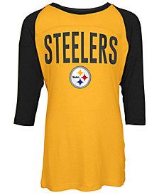 5th & Ocean Pittsburgh Steelers Raglan T-Shirt, Girls (4-16)