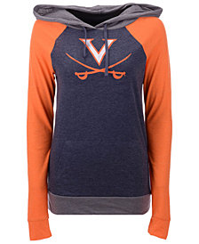 5th & Ocean Women's Virginia Cavaliers Big Logo Raglan Hooded Sweatshirt