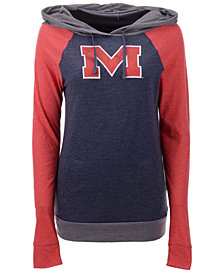 5th & Ocean Women's Ole Miss Rebels Big Logo Raglan Hooded Sweatshirt