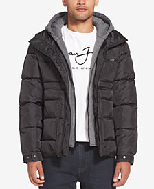 Sean John Men's Layered Puffer Jacket