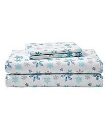 Novelty Print Full Flannel Sheet Set