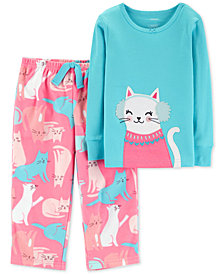 Carter's Toddler Girls Cat-Print Pajamas