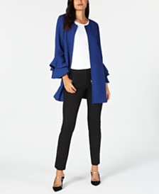 Alfani Collarless Jacket, Tank Top & Slim Pants, Created for Macy's