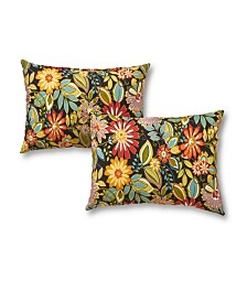 Set of 2 Rectangle Outdoor Accent Pillows