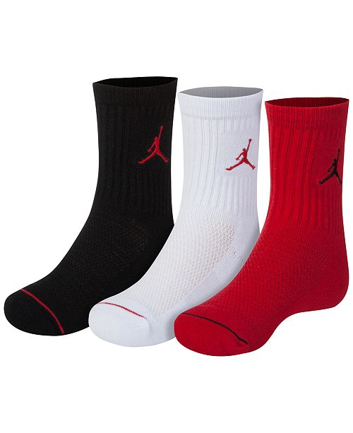 Jordan Little & Big Boys 3-Pk. Jumpman Crew Socks