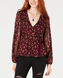 American Rag Juniors' Surplice Bow-Detail Top, Created for Macy's