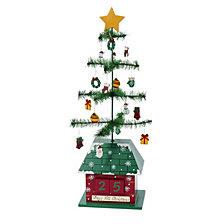 Kurt Adler 17 Inch Christmas Tree Calendar with Ornaments